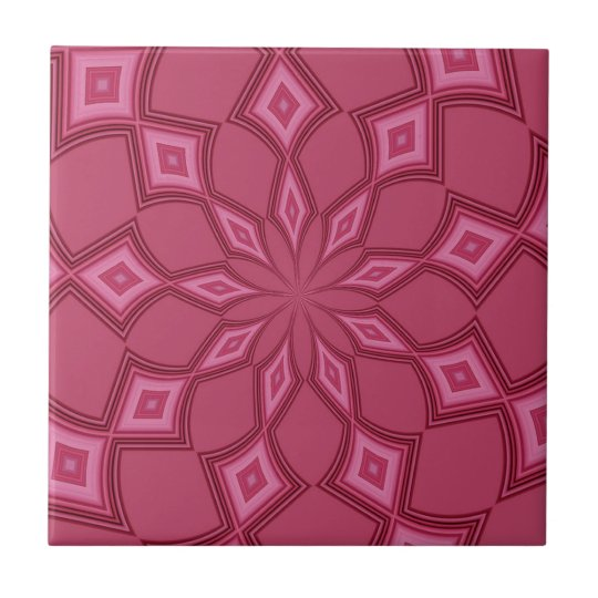 Abstract Background Fuschia Diamonds Tile