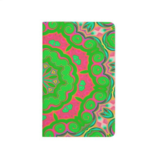 Abstract Background Green And Pink Journal