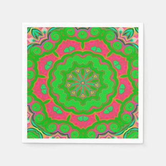 Abstract Background Green And Pink Paper Napkins