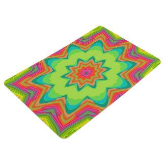 Abstract Background Green Colorful Floor Mat