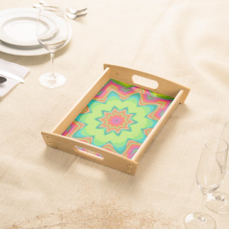 Abstract Background Green Colorful Serving Tray