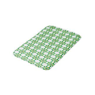 Abstract Background Green Leaf Design Bath Mat