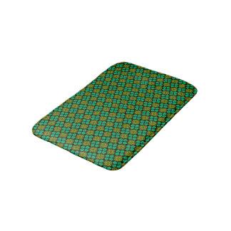 Abstract Background Green Pattern Bath Mat