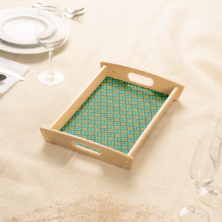 Abstract Background Green Pattern Serving Tray