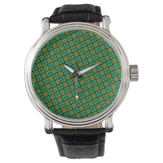 Abstract Background Green Pattern Watch