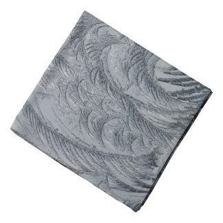 Abstract Background Grey Feathers Bandana
