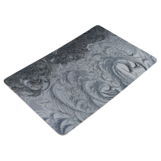 Abstract Background Grey Feathers Floor Mat