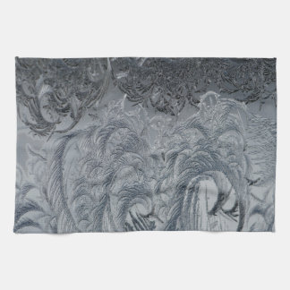 Abstract Background Grey Feathers Tea Towel