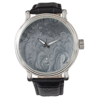 Abstract Background Grey Feathers Watch