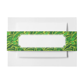 Abstract Background Invitation Belly Band
