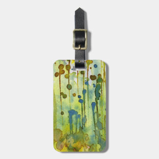 abstract background luggage tag