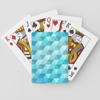 Abstract background made of mosaic pattern playing cards