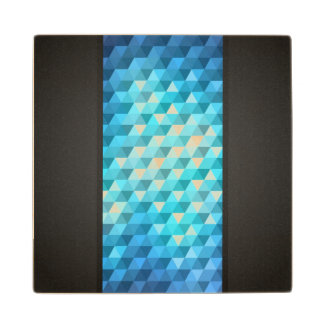 Abstract background made of mosaic pattern wood coaster