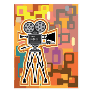 Abstract Background Movie Projector Film camera Postcard