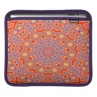 Abstract Background Multi Color Mosaic Pattern iPad Sleeves