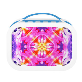 Abstract Background Multi Color Watercolor Lunch Box