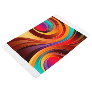 Abstract Background Multi Color Whirl Floor Mat