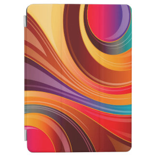Abstract Background Multi Color Whirl iPad Air Cover