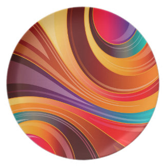 Abstract Background Multi Color Whirl Plate