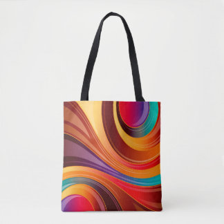 Abstract Background Multi Color Whirl Tote Bag