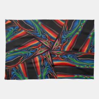 Abstract Background Multicolorwined Interwined Kitchen Towels