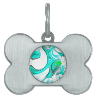 abstract background pet ID tag