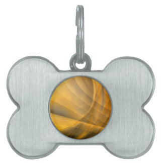abstract background pet name tag