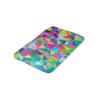 Abstract Background Purple And Colorful Bath Mat
