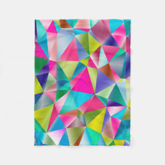 Abstract Background Purple And Colorful Fleece Blanket