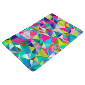 Abstract Background Purple And Colorful Floor Mat