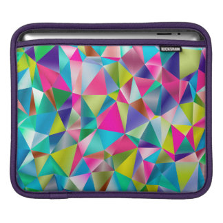 Abstract Background Purple And Colorful iPad Sleeve