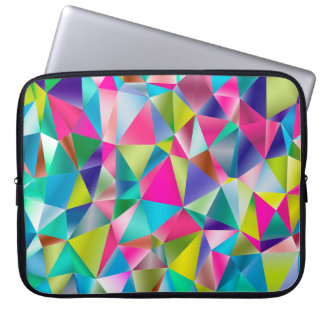 Abstract Background Purple And Colorful Laptop Sleeve