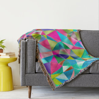 Abstract Background Purple And Colorful Throw Blanket
