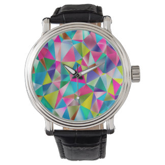 Abstract Background Purple And Colorful Watch