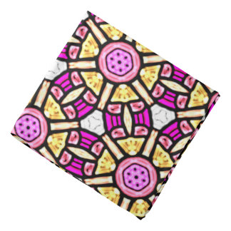Abstract Background Purple And Gold Stained Glass Bandana
