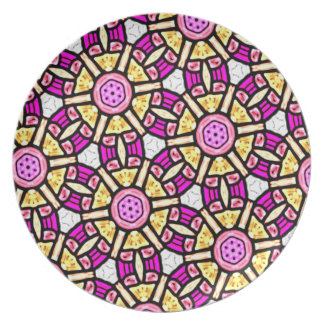 Abstract Background Purple And Gold Stained Glass Plate