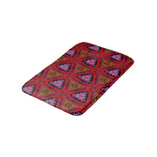 Abstract Background Purple Red And Brown Bath Mat