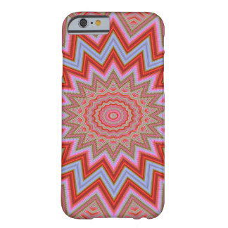 Abstract Background Red And Pink Concentric Stars Barely There iPhone 6 Case