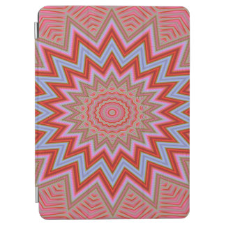 Abstract Background Red And Pink Concentric Stars iPad Air Cover