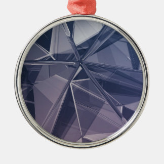 Abstract background Silver-Colored round decoration