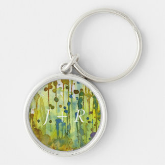 abstract background Silver-Colored round key ring
