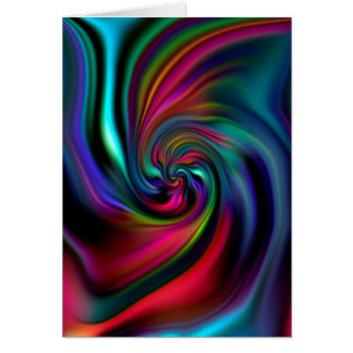 Abstract Background Spirals Soft I Card