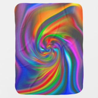Abstract Background Spirals Soft II Swaddle Blankets