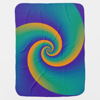 Abstract Background Spirals soft V Baby Blanket