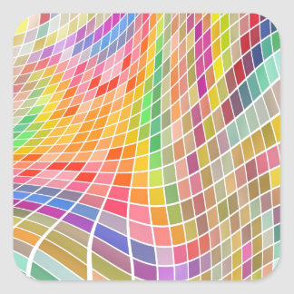Abstract Background Square Sticker
