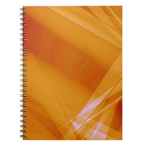 Abstract-Background sunshine ORANGE DIGITAL RANDOM Spiral Note Book