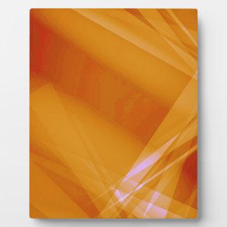 Abstract-Background sunshine ORANGE DIGITAL RANDOM Photo Plaque