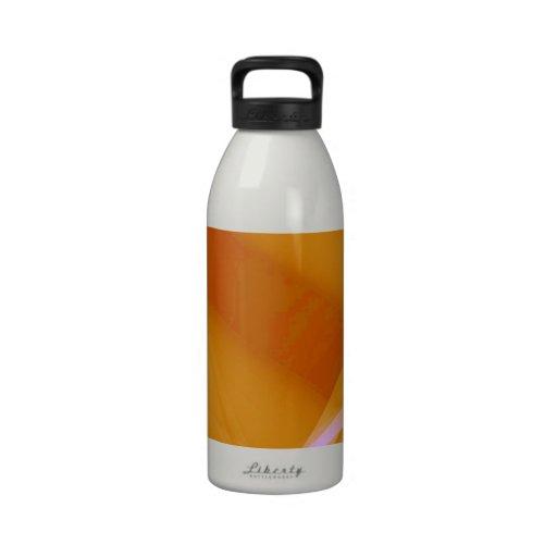 Abstract-Background sunshine ORANGE DIGITAL RANDOM Reusable Water Bottle