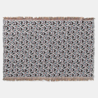 abstract background throw blanket