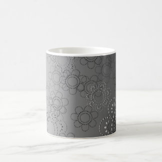 abstract background with flowers in relief magic mug